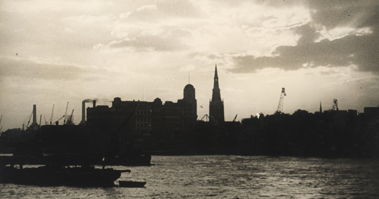 old London cityscape