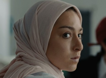 close up on a girl wearing a hijab
