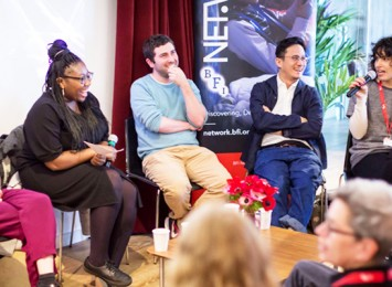 panelists for talking at Flare Film Festival