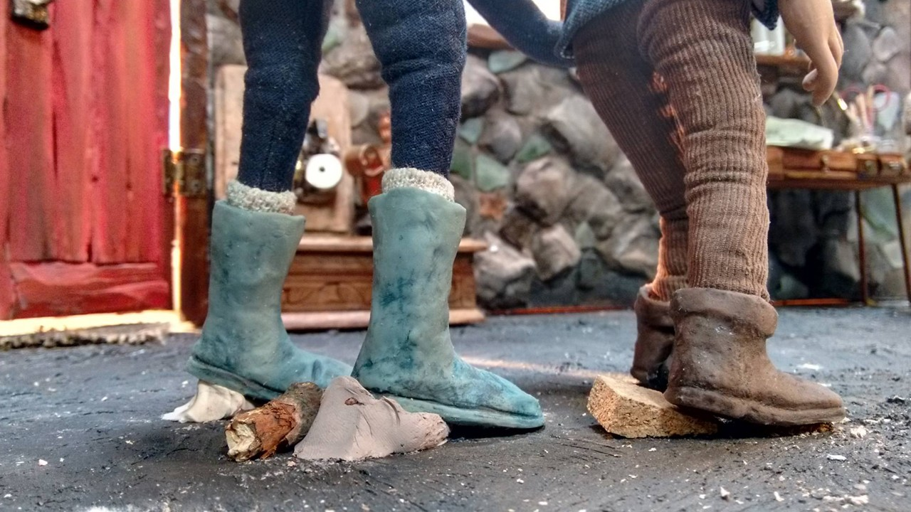 feet of models on set of animation