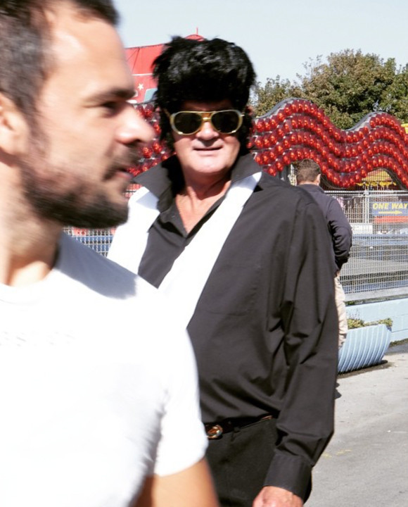 a man in an Elvis outfit